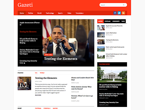 Wpzoom – Gazeti v1.0.1 Theme for WordPress