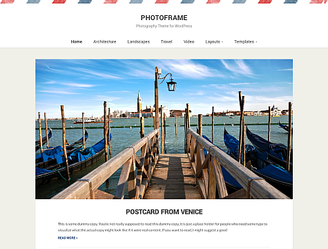 Wpzoom – PhotoFrame v1.0.2 Theme for WordPress