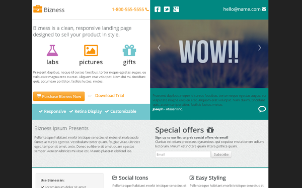 Wrapbootstrap – Bizness