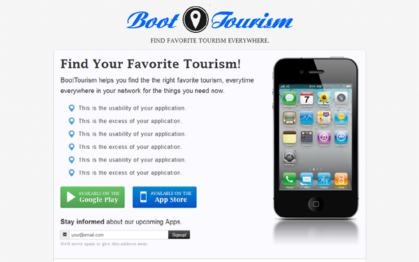 Wrapbootstrap – BootTourism – App case template