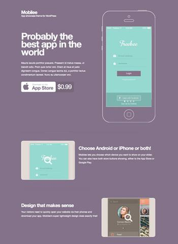 CSSigniter – Mobilee v1.0 – Mobile app showcase theme for WordPress
