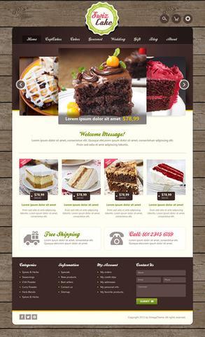 OmegaTheme – OT Swizcake – Cake Shop Joomla 2.5 Template