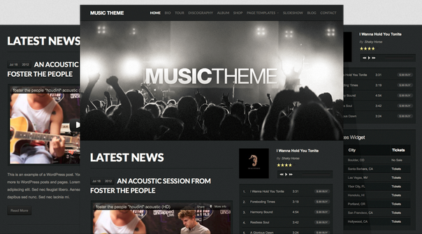 Organicthemes – Music v1.2.2 for WordPress Theme