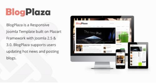 BlogPlaza v2.0 Responsive Joomla 2.5 & 3.x Template