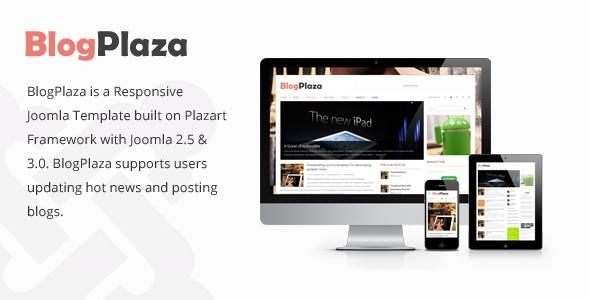 BlogPlaza v2.0 – TemPlaza Responsive Joomla 2.5 & 3.x Template