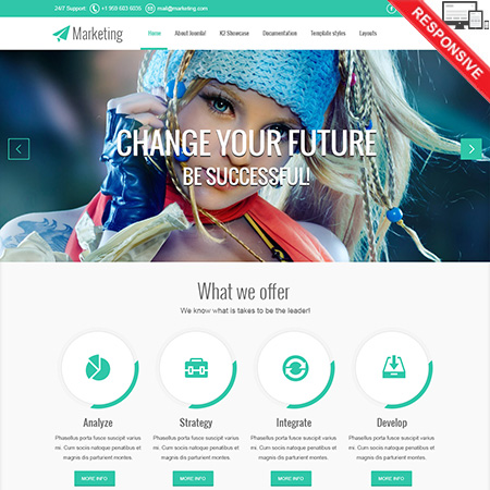 VT Marketing template for Joomla 2.5 & 3.2