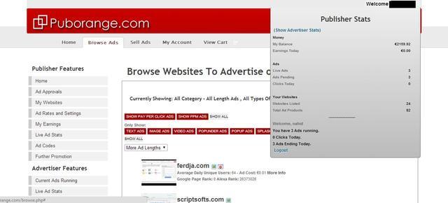 "Clone puborangecom ""Ad Network"" PHP Script + template"
