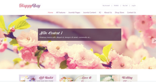 Omegatheme – OT Happyday Joomla Modern Flower Shop