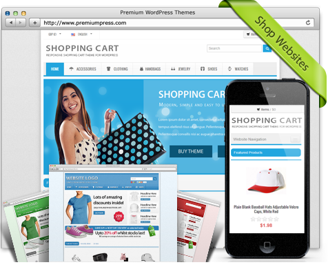 Responsive Shopping Cart Theme v6.0 – Premiumpress WordPress Theme