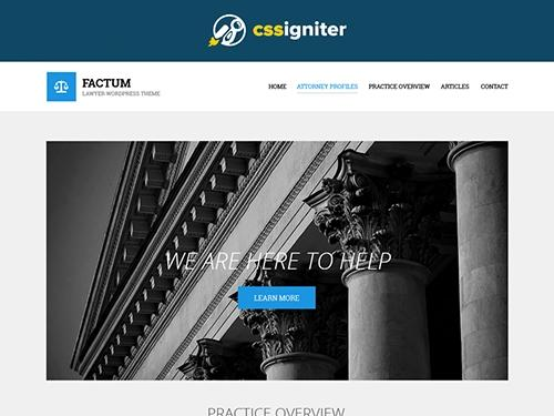 CSSigniter – Factum v1.0 – Template For WordPress