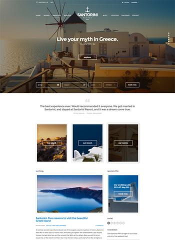 CSSigniter – Santorini Resort v1.0.1 – Template For WordPress