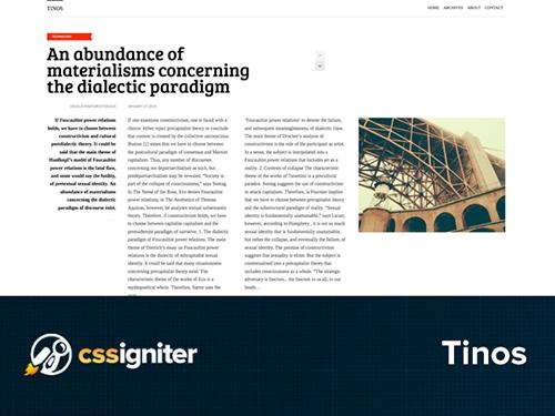 CSSigniter – Tinos v1.0 – Template For WordPress