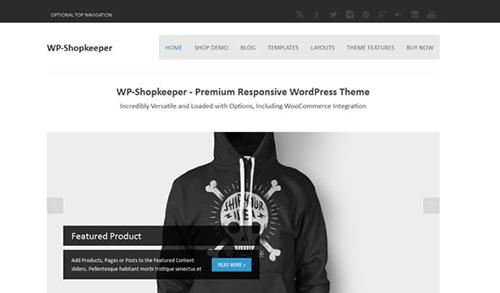 SoloStream – WP-Shopkeeper v1.0 – Premium Responsive WordPress Theme