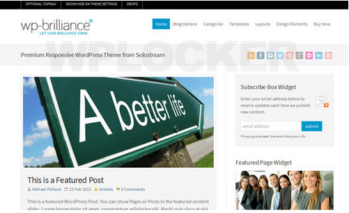 WP-Brilliance v1.0.2 Premium WordPress Theme