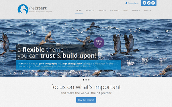 WrapBootstrap – ReStart v2.0 – Clean Minimal Business – FULL