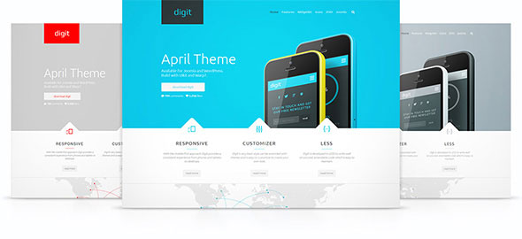 Digit v1.0.1 — Yootheme WordPress Theme