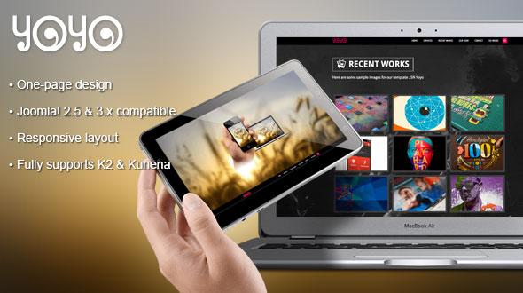 JSN Yoyo – A superb flexible One-page Joomla Template