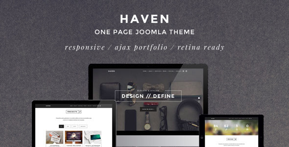 Haven — Themeforest Elegant One Page Joomla Template