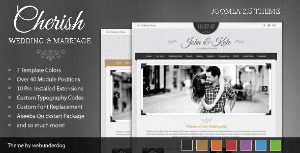 Cherish — Themeforest Joomla Marriage & Wedding Theme