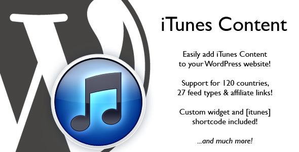 CodeCanyon – iTunes Content v1.3
