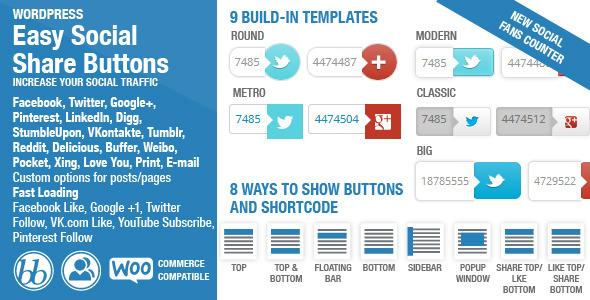 Easy Social Share Buttons v1.3.4 WordPress Plugin