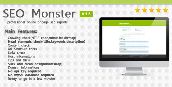SeoMonster v1.6 – OnPage SEO Raporting Script