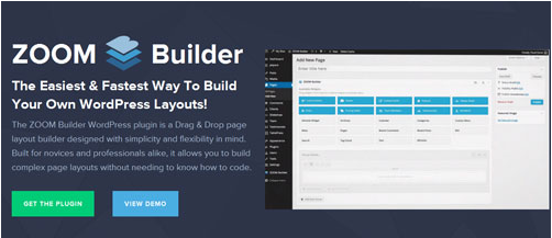 WPZoom – ZOOM Builder Drag & Drop page layout builder