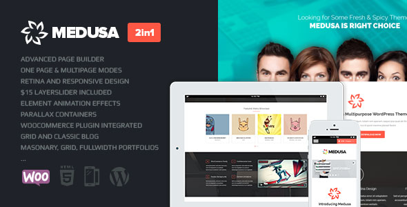 Medusa — Themeforest Responsive Multi-Purpose Theme