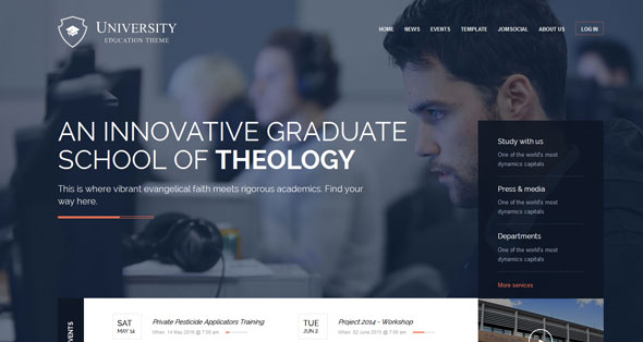 University — GavickPro Joomla Template