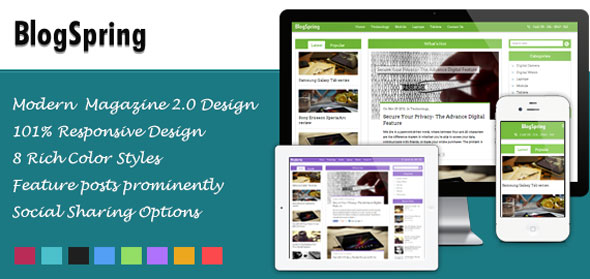 BlogSpring v2.0.4 — Inkthemes WordPress Theme