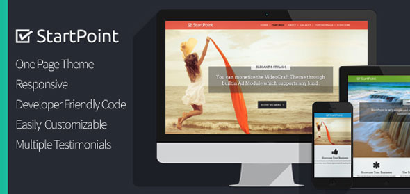 StartPoint — Inkthemes One Page Business WordPress Theme