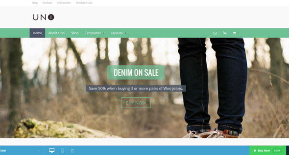 Uno — Woothemes Premium WordPress Theme