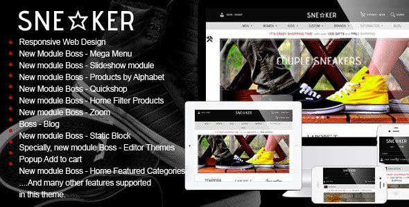 Sneaker — Themeforest Opencart Fashion Shoes Store