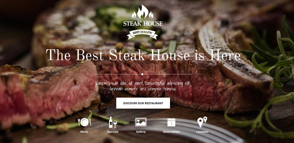 Steak House — GavickPro Joomla Template