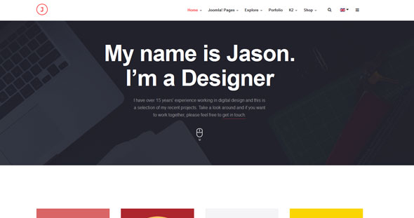 JA Jason — Joomlart Responsive template for Portfolio