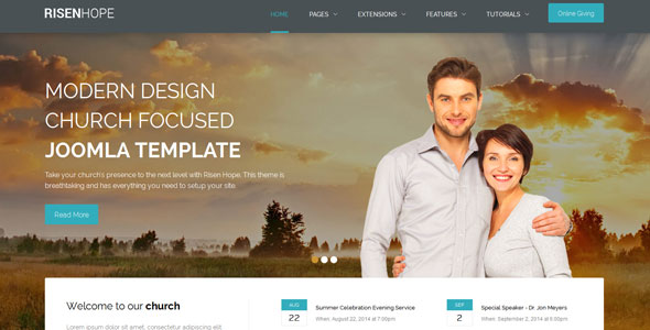 Risen Hope — Shape5 Joomla Template