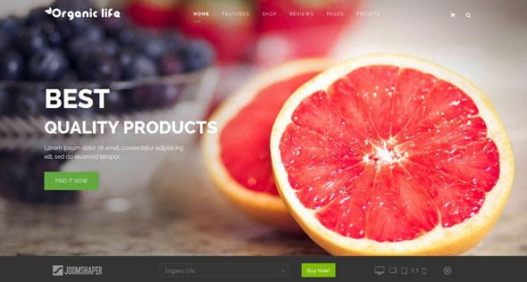 Shaper Organic Life — Joomshaper Multipurpose e-Commerce