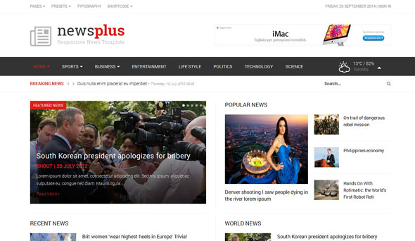 Shaper NewsPlus — Joomshaper Responsive News/Magazine