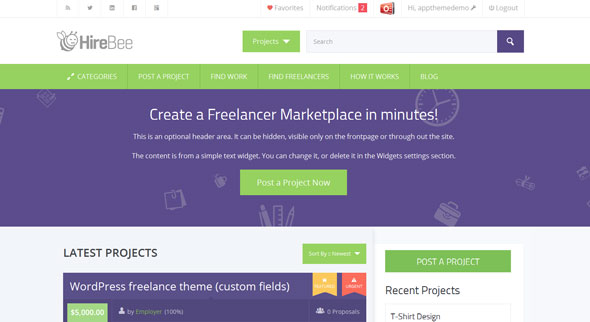 Hirebee — Appthemes WordPress Theme