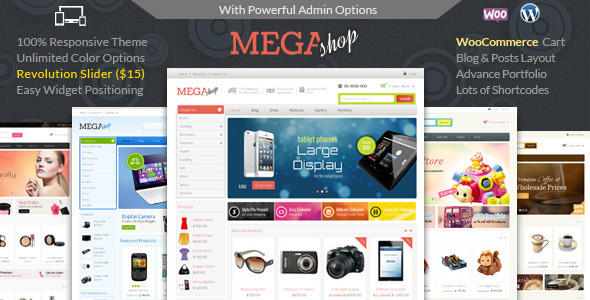 Mega Shop v1.3 — WooCommerce Responsive Theme