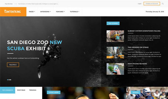 Content King — Shape5 Joomla Template