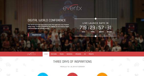 TX Eventx — ThemeXpert Responsive Joomla Event Template