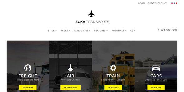 Zoka Transports — Shape5 Joomla Template