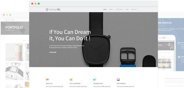 Startup Biz — Joomshaper Drag & Drop Joomla Template
