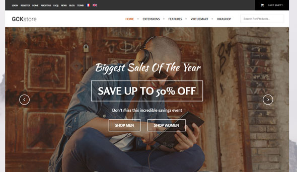 GCK Store — Shape5 Premium Joomla Template