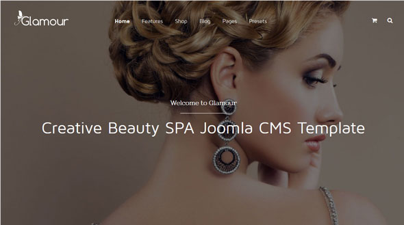 Glamour — Joomshaper Fashion & Beauty Joomla Template