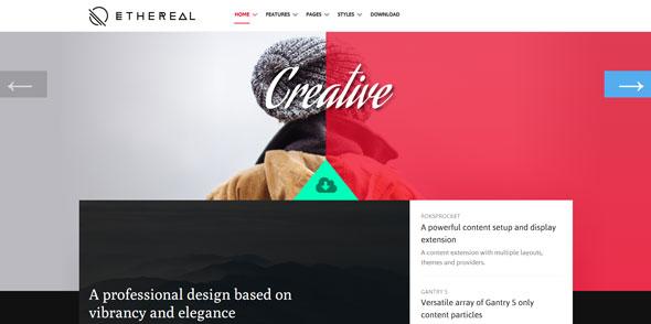 Ethereal — Rockettheme Premium Joomla Template