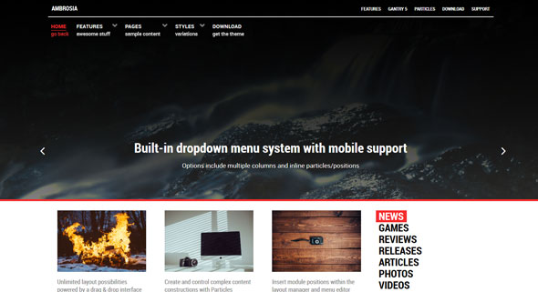 Ambrosia — Rockettheme Joomla Template