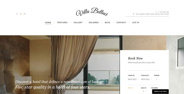 Villa Bellucci — GavickPro Joomla Hotel Template