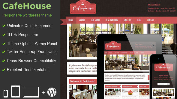 CafeHouse v4.0 — Restaurant WordPress Theme